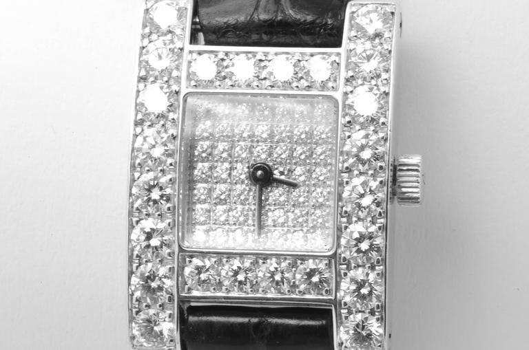 White Gold & Diamond Chopard H Ladies Wristwatch 2