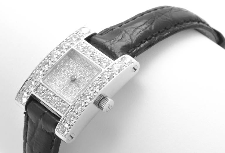 White Gold & Diamond Chopard H Ladies Wristwatch 5
