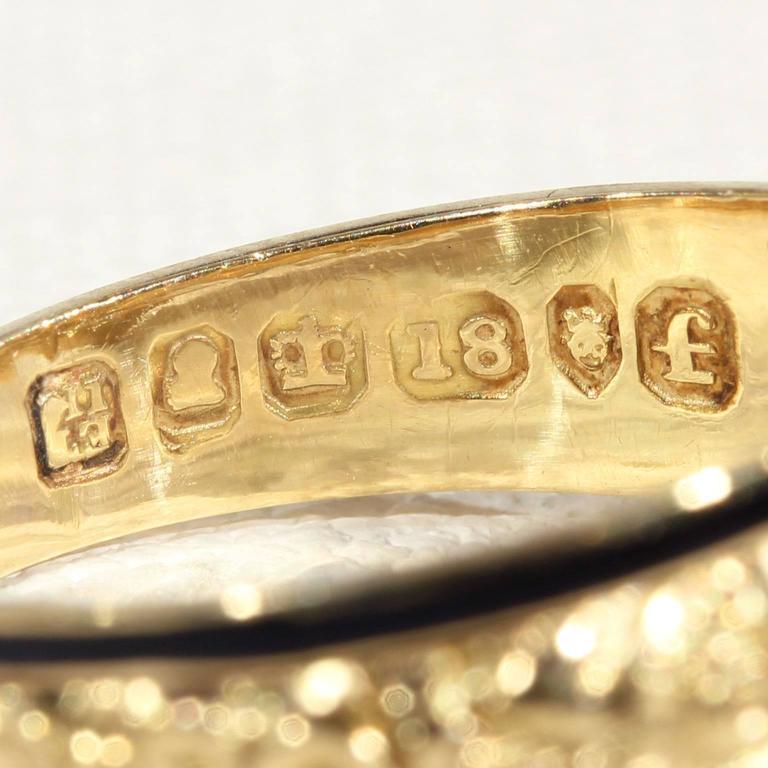 Georgian Garnet Black Enamel Gold Memorial Ring 8