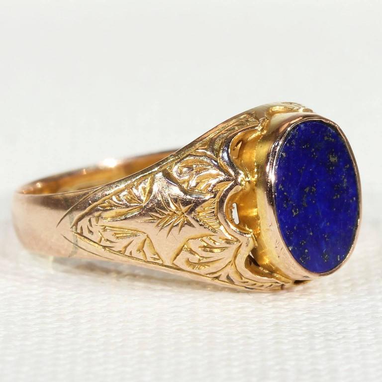 Victorian Lapis Lazuli Gold Ring At 1stdibs