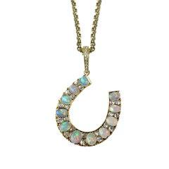 Victorian Opal and Diamond Horseshoe