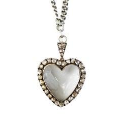 Old Mine Cut Diamond Heart, circa 1820