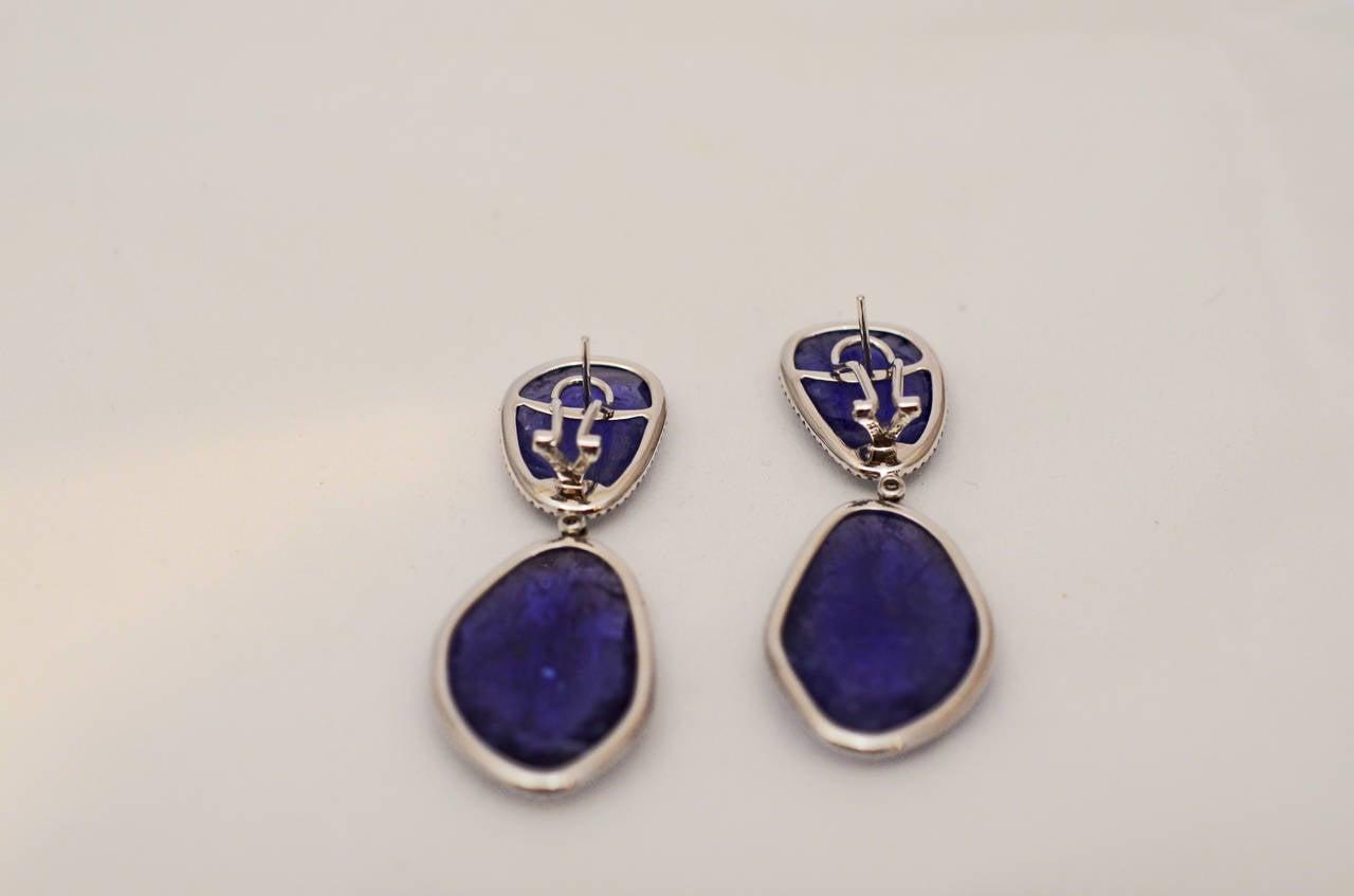 Tanzanite and Diamond Earrings 2