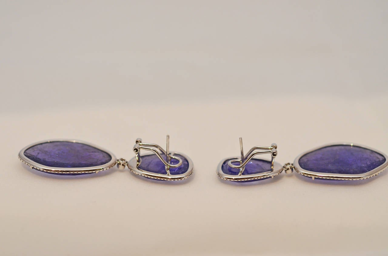 Tanzanite and Diamond Earrings 3