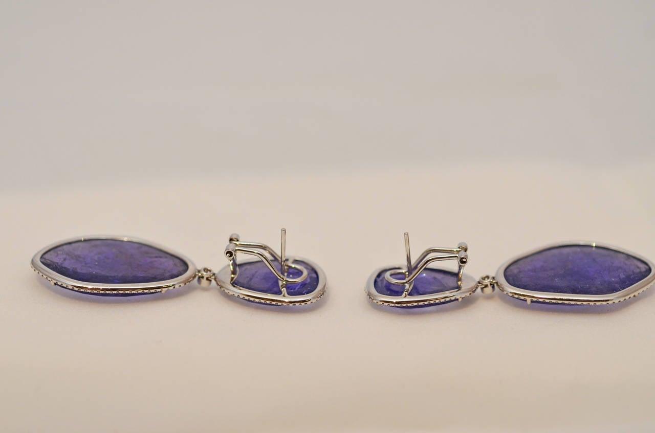 Tanzanite and Diamond Earrings 3