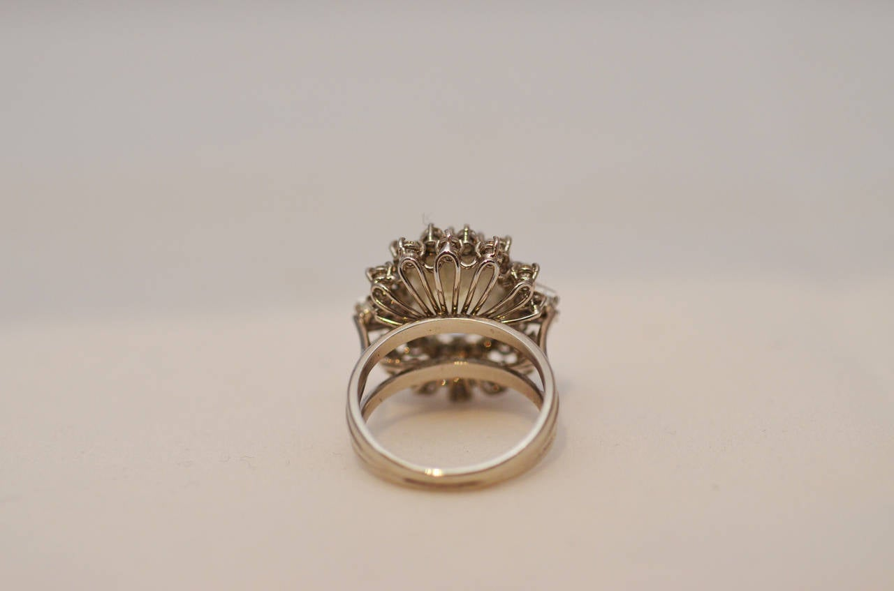 Fabulous Yellow Sapphire and Diamond Gold Ring For Sale 1