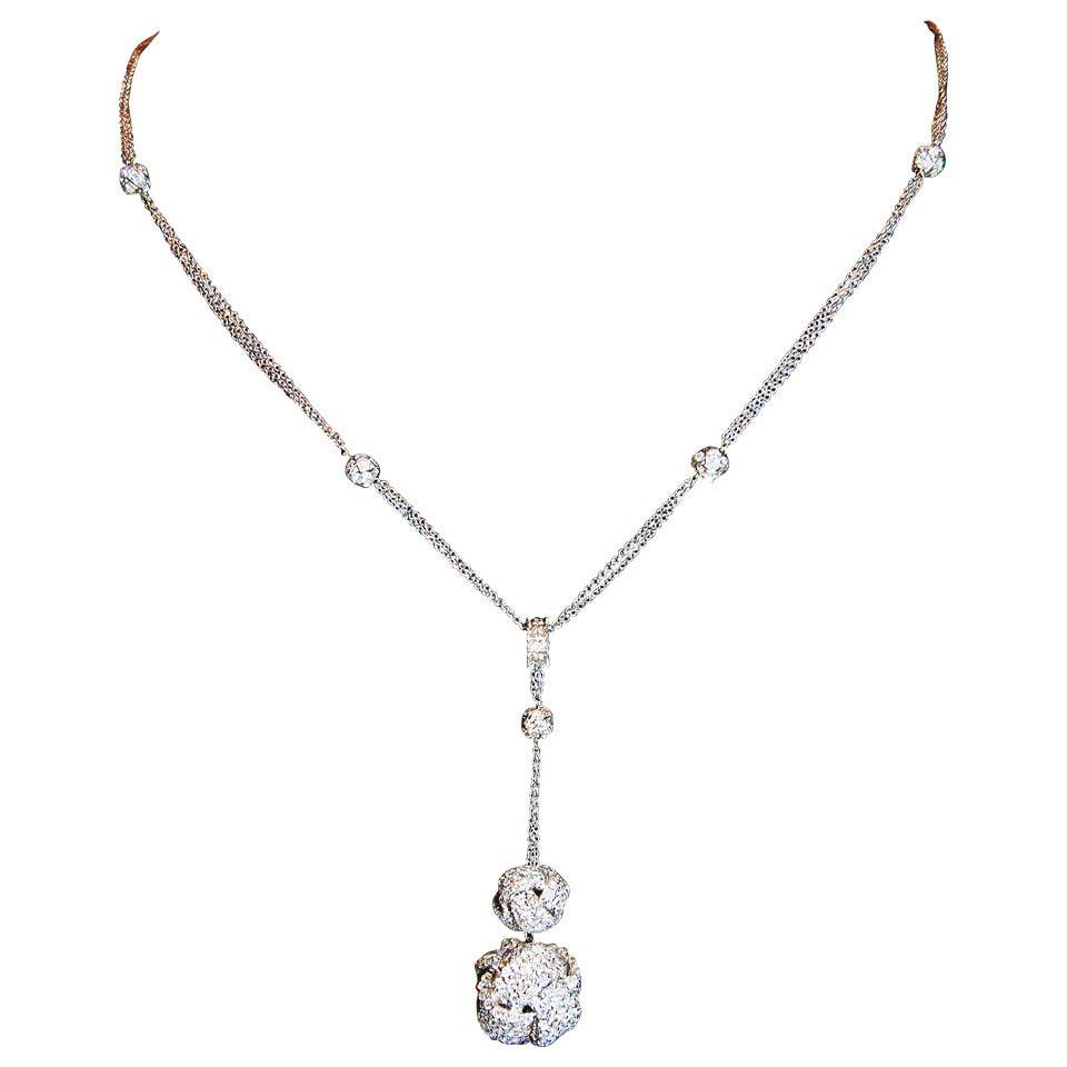 Diamond Gold Knot Necklace