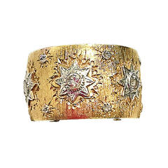 Mario Buccellati Diamond Gold Band