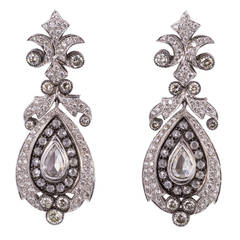 Beautiful Diamond Gold Chandelier Earrings