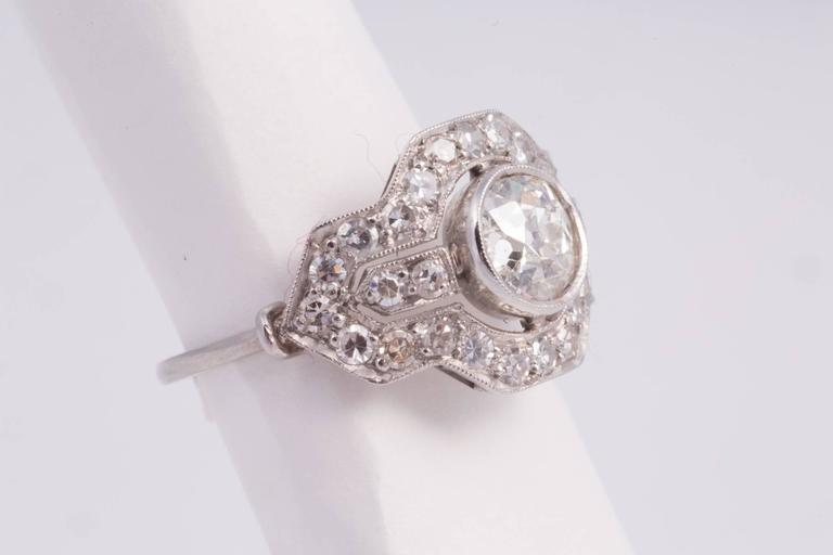 Art Deco Diamond Platinum Ring 2