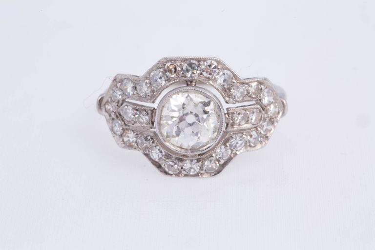 Art Deco Diamond Platinum Ring 3