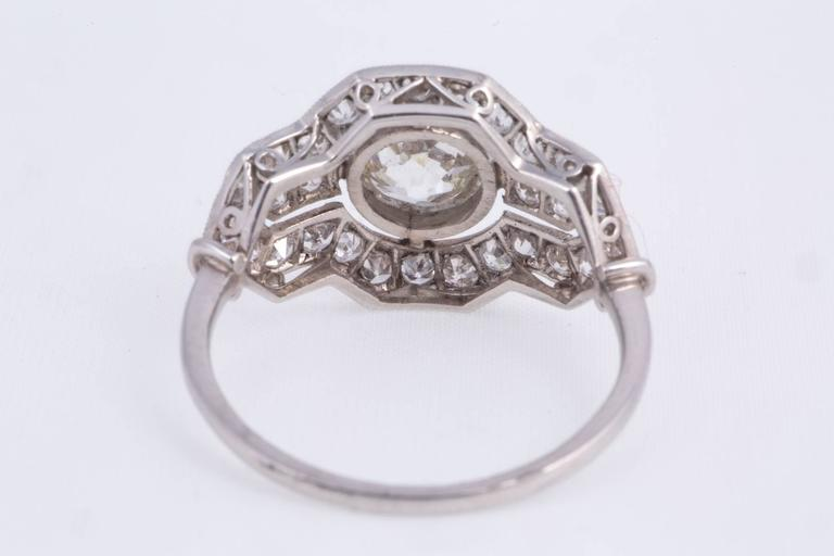 Art Deco Diamond Platinum Ring 4