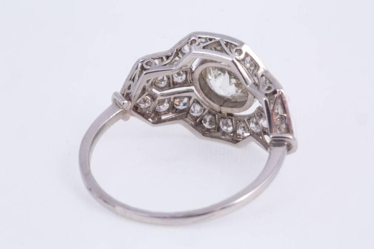 Art Deco Diamond Platinum Ring 5