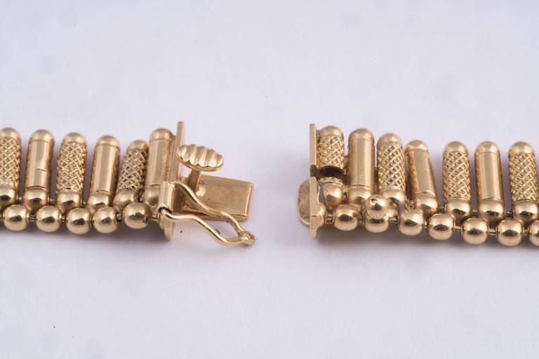 Women's or Men's Fabulous Italian Gold Fringe Necklace For Sale