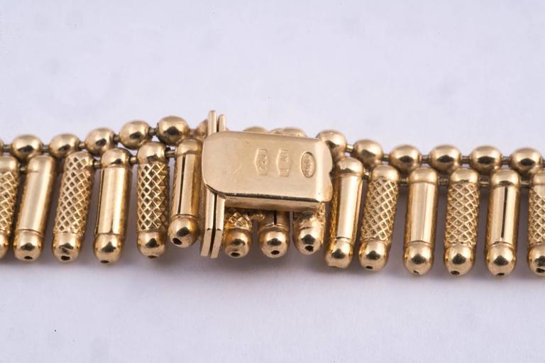 Fabulous Italian Gold Fringe Necklace For Sale 1