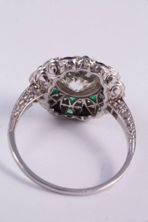 Fabulous Diamond Emerald Onyx Ring 5