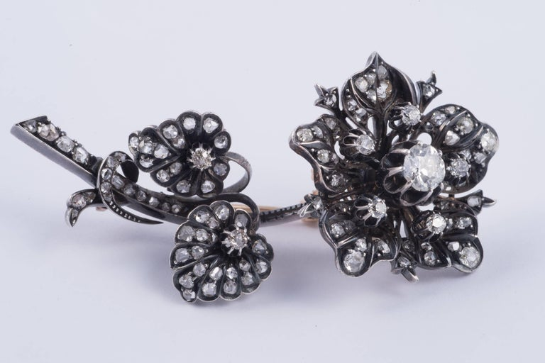 Magnificent 'En Tremblant' Diamond Flower Brooch 2