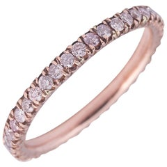 Natural Pink Color Diamonds and Rose Gold Band