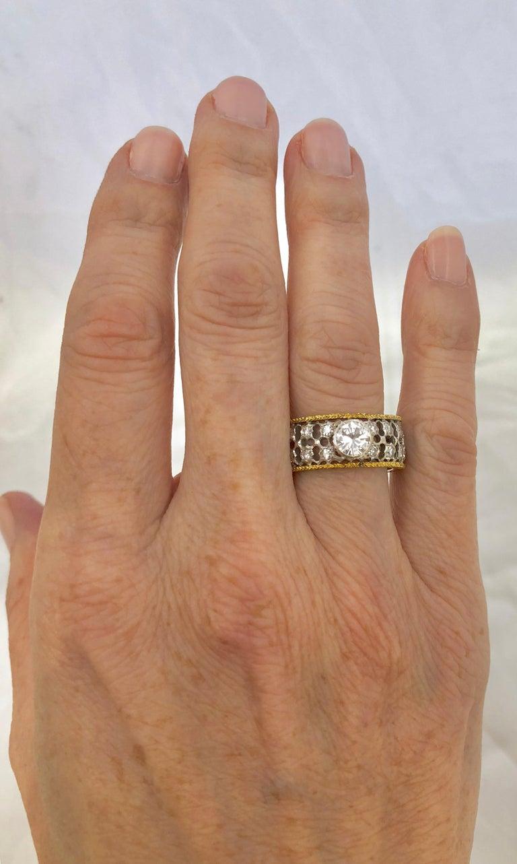 Round Cut Mario Buccellati Diamond Ring For Sale