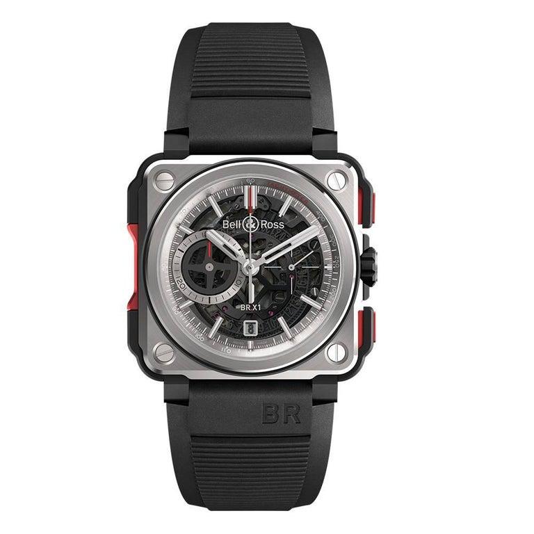 Bell & Ross Titanium BR-X1 Ltd Ed Skeleton Chronograph Mechanical Wristwatch For Sale