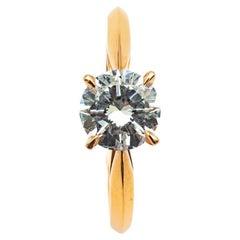 18K Rose Gold and 1.2K Diamond Engagement Ring GIA