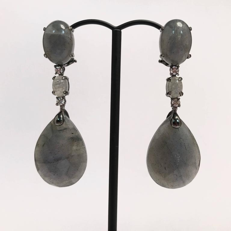 Labradorite and diamonds black gold chandelier earrings for sale at discover this wonderful black gold labradorite and diamonds chandelier earrings black gold 18 carat labradorite aloadofball Choice Image