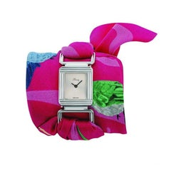 Poiray x Ines de Parcevaux Stainless Steel Limited Edition Silk Scarf Wristwatch