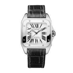 Cartier Stainless Steel Santos 100 Medium Automatic Wristwatch