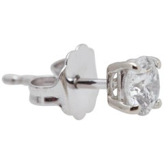 Round Diamond Earrings 2.23 Carat 14 Karat White Gold