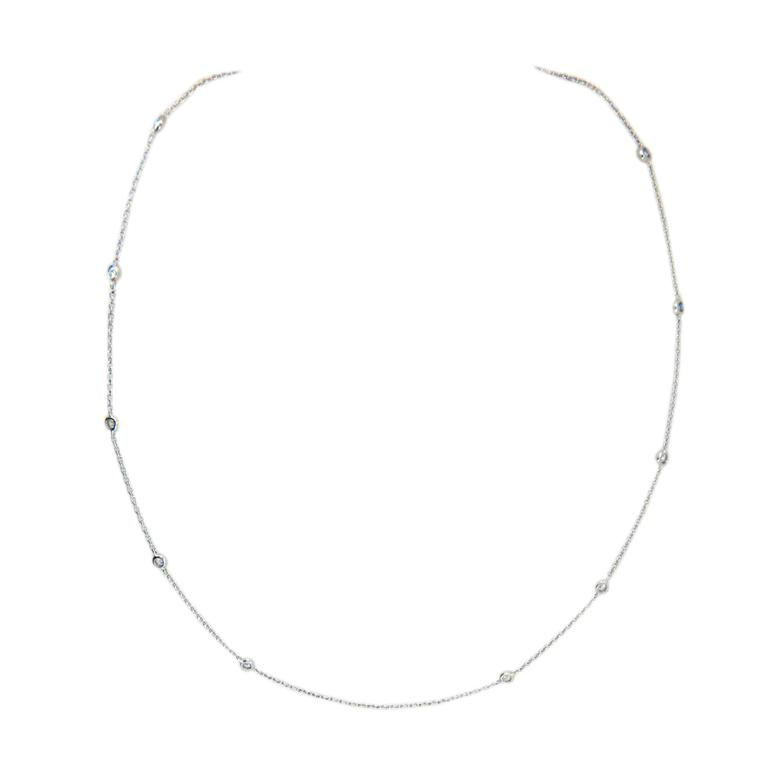 Laura Munder Diamond White Gold Chain Necklace