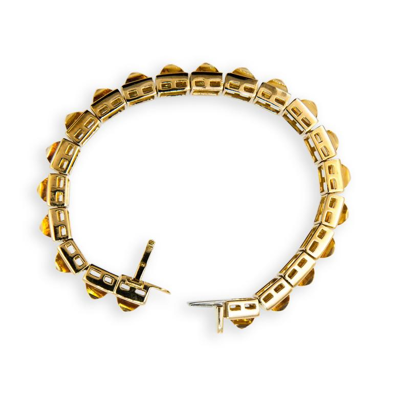 Laura Munder Citrine Sugarloaf Yellow Gold Bracelet 3