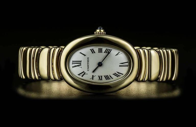 Cartier LadiesYellow Gold Baignoire Quartz Wristwatch 3