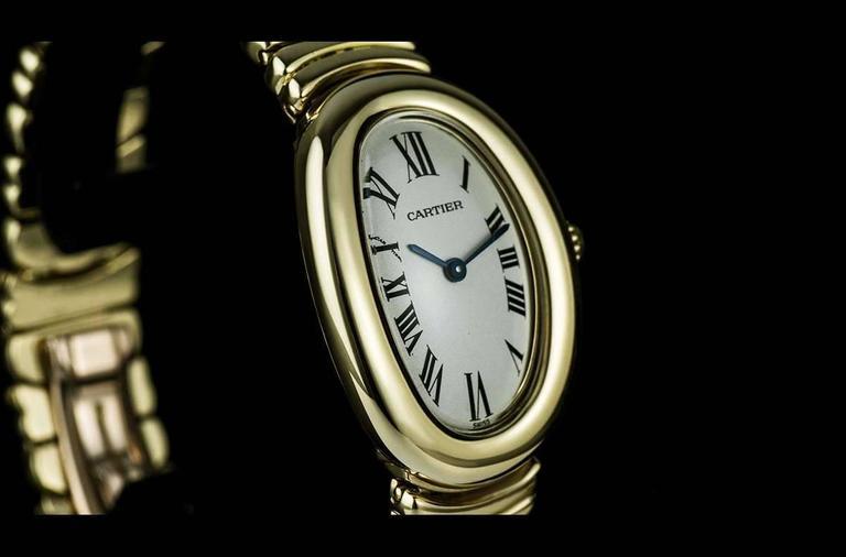 Cartier LadiesYellow Gold Baignoire Quartz Wristwatch 2
