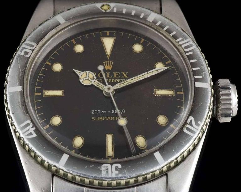 Men's Vintage Rolex Stainless Steel Submariner James Bond Big Crown Automatic Watch For Sale