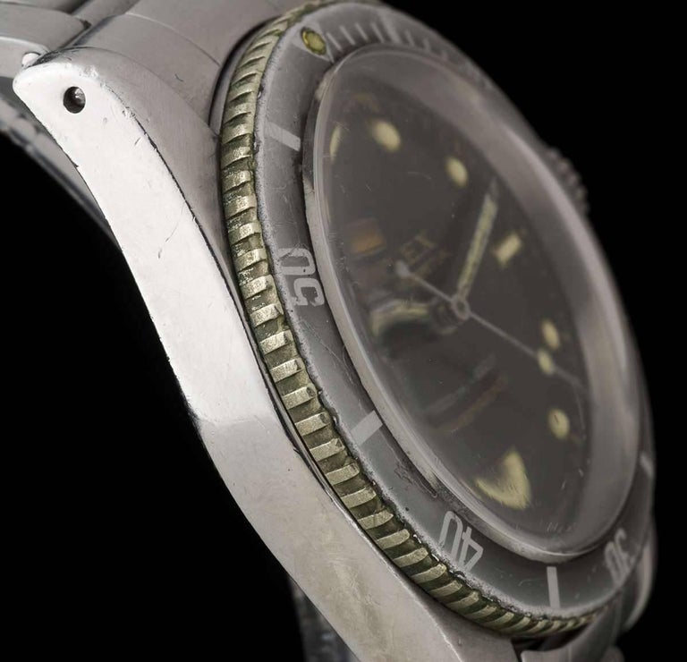 Vintage Rolex Stainless Steel Submariner James Bond Big Crown Automatic Watch For Sale 1
