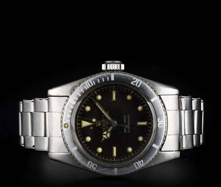 Vintage Rolex Stainless Steel Submariner James Bond Big Crown Automatic Watch For Sale 2