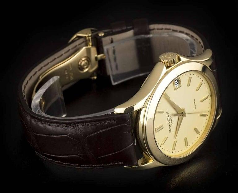 Patek Philippe Tiffany & Co Calatrava Opaline Dial Automatic Wristwatch  For Sale 1