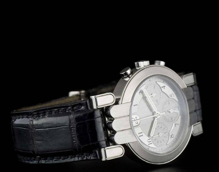 Men's Harry Winston Platinum Silver Dial Premier Chronograph Gent Automatic Wristwatch For Sale
