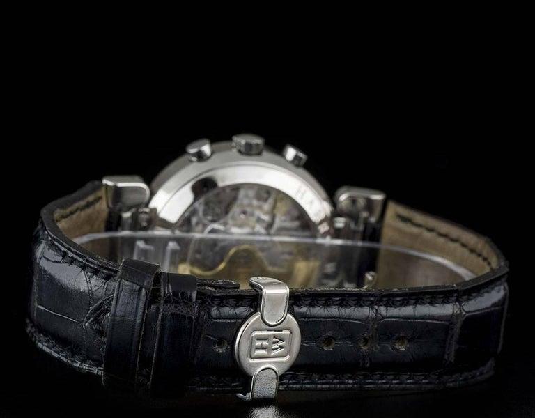 Harry Winston Platinum Silver Dial Premier Chronograph Gent Automatic Wristwatch For Sale 1