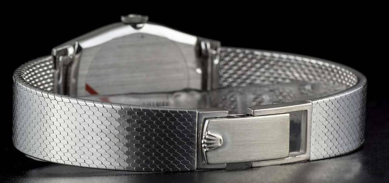 Rolex LadiesWhite Gold Cellini Manual Wind Wristwatch Ref 3803  For Sale 1