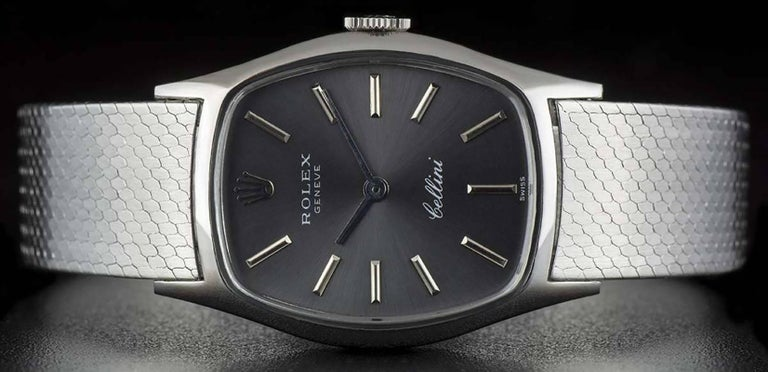 Rolex LadiesWhite Gold Cellini Manual Wind Wristwatch Ref 3803  In Excellent Condition For Sale In London, GB