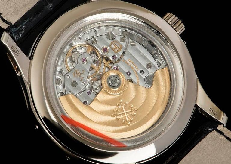 Patek Philippe White Gold Annual Calendar Rhodium Dial Automatic Wristwatch For Sale 3