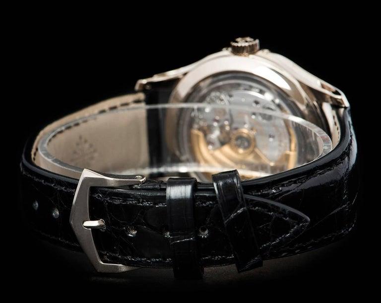 Patek Philippe White Gold Annual Calendar Rhodium Dial Automatic Wristwatch For Sale 2