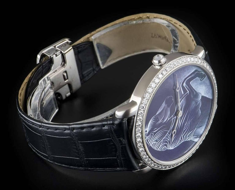 Cartier White Gold Ronde Louise XL Year Of The Horse Manual Wristwatch For Sale 1
