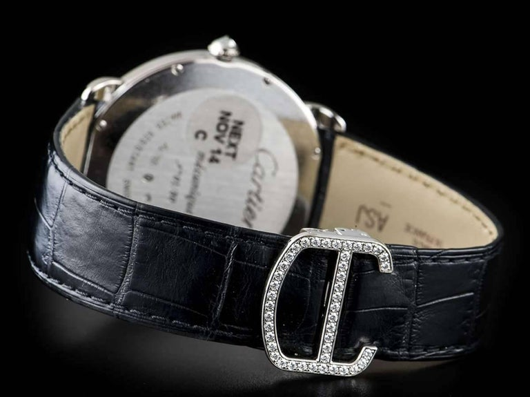 Cartier White Gold Ronde Louise XL Year Of The Horse Manual Wristwatch For Sale 2