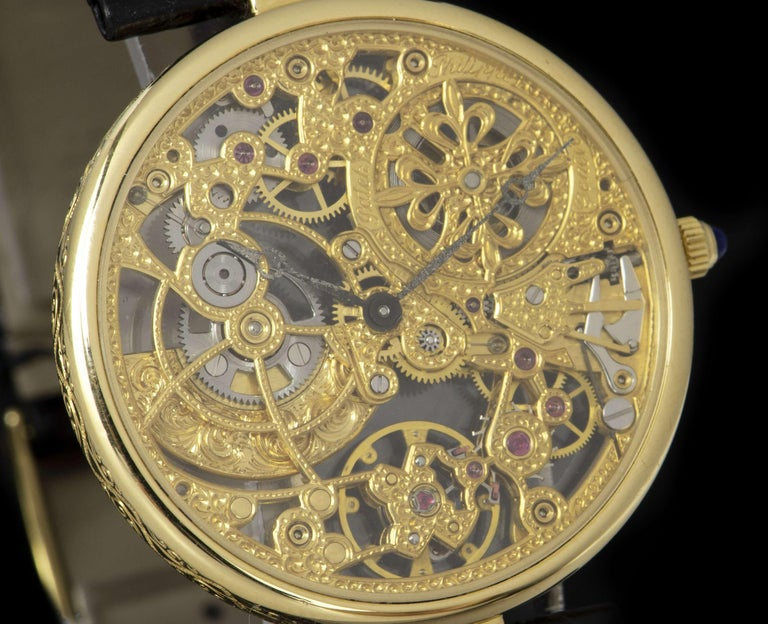 Patek Philippe Very Rare Gold Skeleton Dial 3878J Automatic Watch In Good Condition For Sale In London, GB