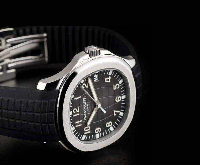 Patek Philippe Stainless Steel Jumbo Aquanaut Black Dial ...
