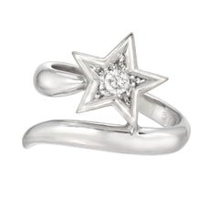 18 Karat White Gold and Diamond Star Ring, Chanel