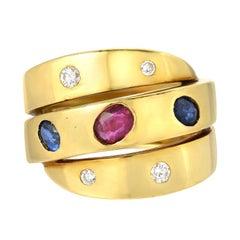 Van Cleef & Arpels Sapphire Ruby Diamond Ring
