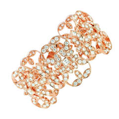 Kwiat 18k Pink Gold and Diamond Crochet Bracelet